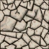 Brown stone seamless pattern