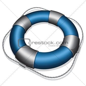 Blue lifebuoy