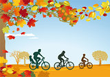 Cycling trip in autumn