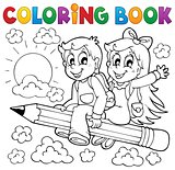 Coloring book pupil theme 3