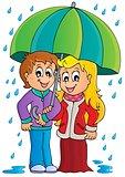 Rainy weather theme image 1