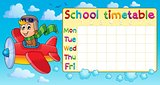 School timetable thematic image 1