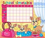 School timetable thematic image 5
