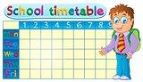 School timetable theme image 1