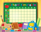 School timetable theme image 3