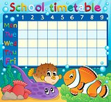 School timetable theme image 6