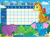 School timetable theme image 7