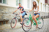Couple of bicyclists