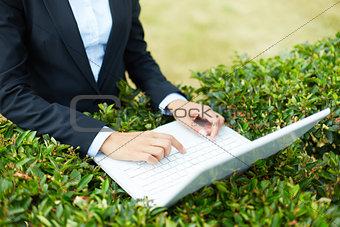 Touching laptop keys