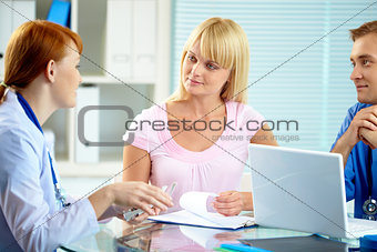 Consulting patient