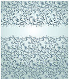 Card with seamless pattern