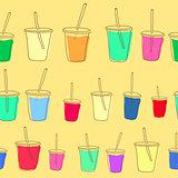 vector milk shake