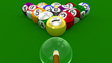 8 Ball Pool  3D Game - All Balls Randomly Racked Ready for Break Shot