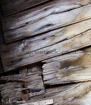 Old wood door closeup