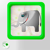 Cheerful african elephant Environmental protection