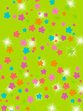 Group of colors, floral background