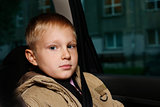 boy in the automobile