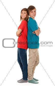 pair of teenagers