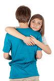girl hugging guy