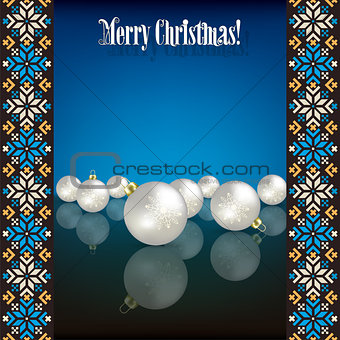 Abstract grunge background with white Christmas decorations