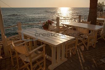 Beautiful coffee terrace, sea view