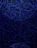 Blue Abstract Ornament Background