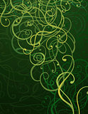 Green Abstract Ornament Background