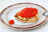 stock_Pancake with red caviar