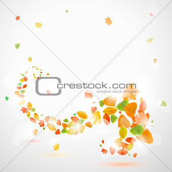 Autumn abstract background with leaves