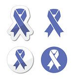 Periwinkle ribbons set - eating disorder symbol