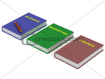 Three books on business on the internet, marketing