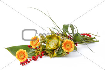 fresh bouquet from orange gerbers