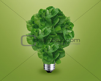 Green light bulb idea