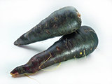 fresh black carrots