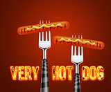 Hotdog on fork