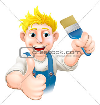 Painter with paintbrush