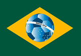 Brazil flag with ball
