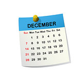 2014 calendar for December.