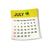 2014 calendar for July.