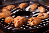 Grilled chicken on gas grill