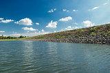 Lake in sunny day