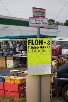 Flea and jumble market poster