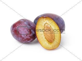three ripe plums