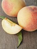 fresh peaches with lobule