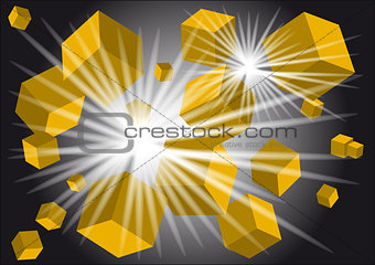 abstract light background with cubes