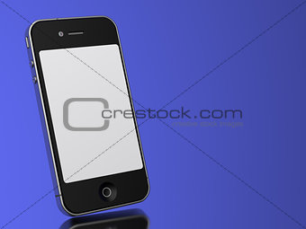 Modern Touch Phone on a blue background.