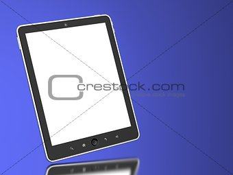 Touchpad on Blue Background.
