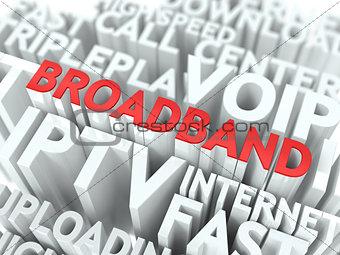 Broadband. The Wordcloud Concept.