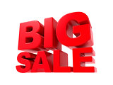 Big Sale - Red 3D Text.