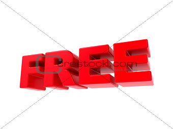 Free - Red 3D Text.